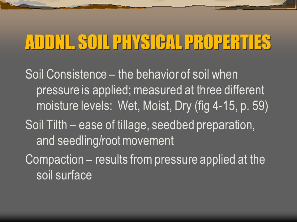 Physical properties of soil ppt video online download for Physical and chemical properties of soil wikipedia