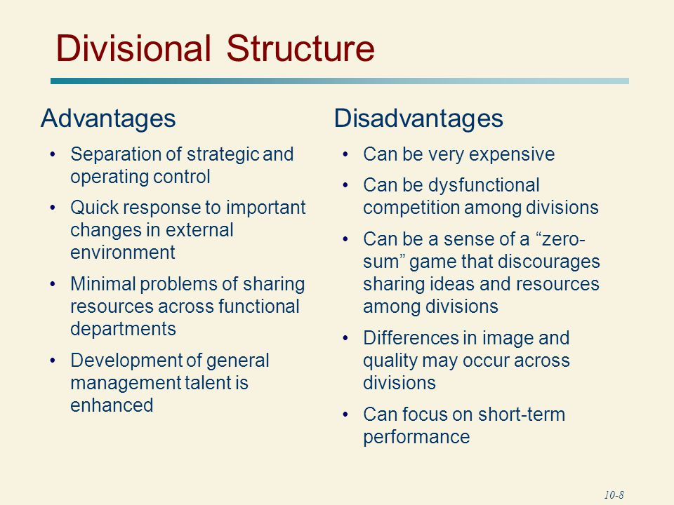 advantages and disadvantages of business organization types For an organization, the organizational structure is a hierarchy of people and its functions  organizational structure types  in addition to such advantages,.