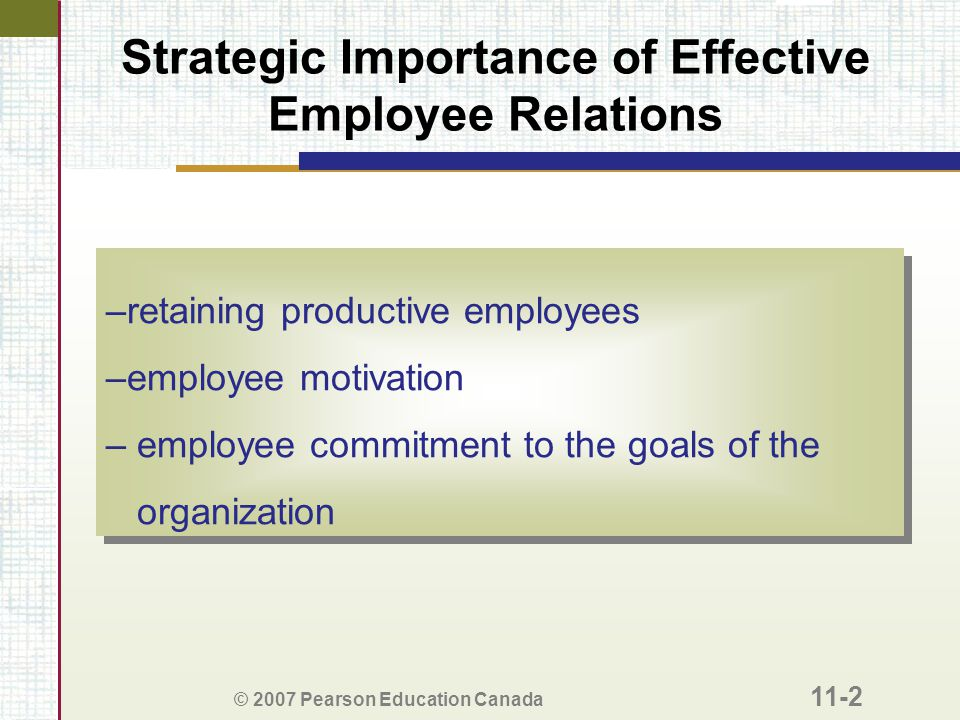 Strategic Importance of Effective Employee Relations