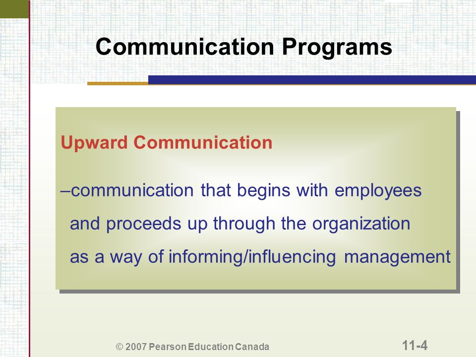 Communication Programs