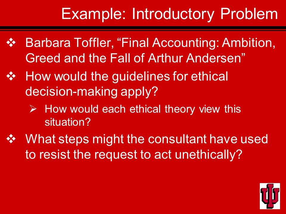 Ethical issues with arthur andersen