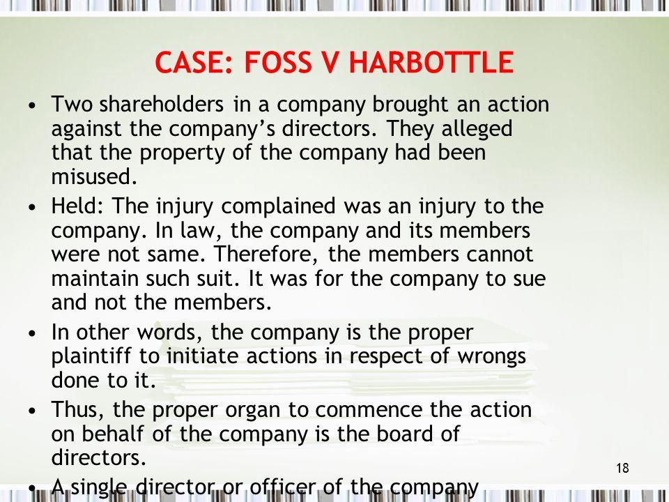 CASE: FOSS V HARBOTTLE