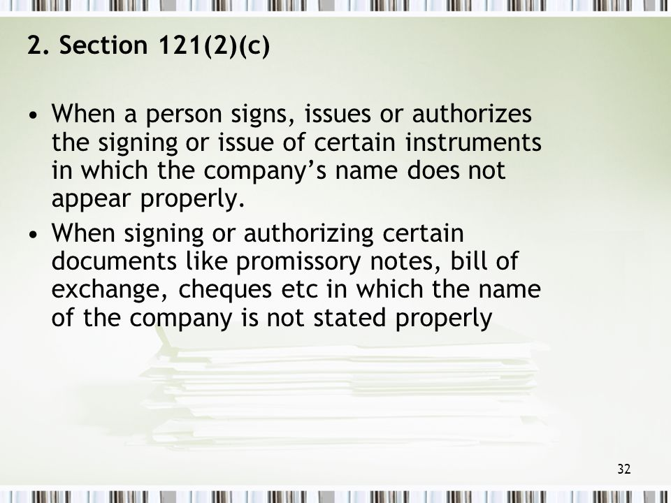 2. Section 121(2)(c)