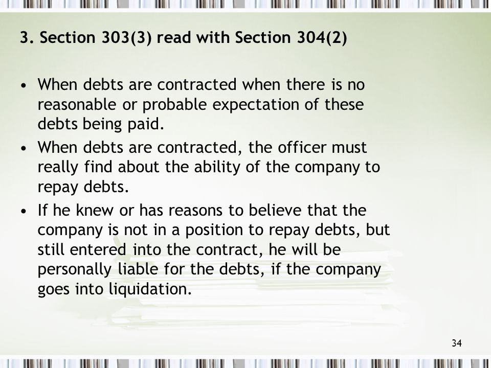 3. Section 303(3) read with Section 304(2)
