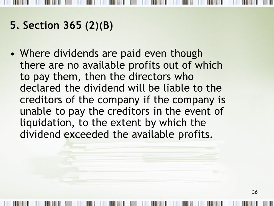 5. Section 365 (2)(B)