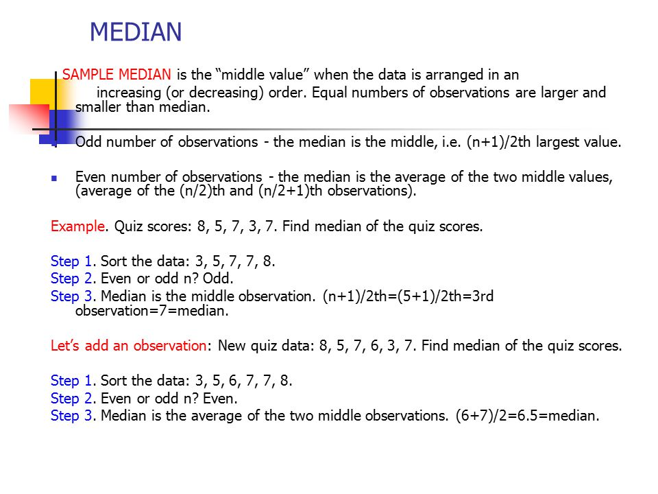 Numerical summaries measuring center of the data set ppt download 3 median ccuart Gallery