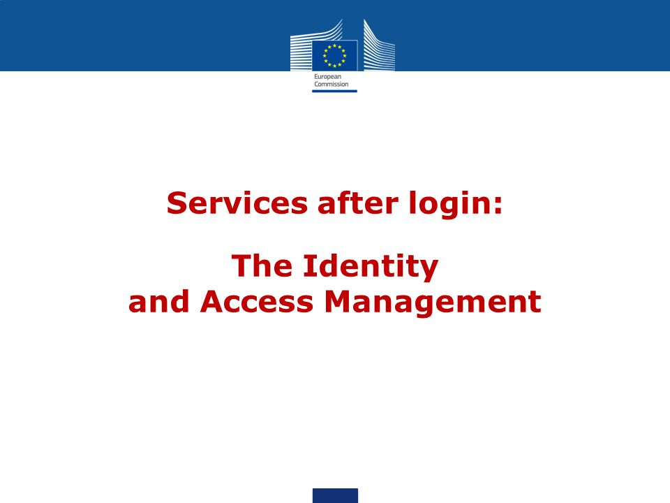 The Identity and Access Management