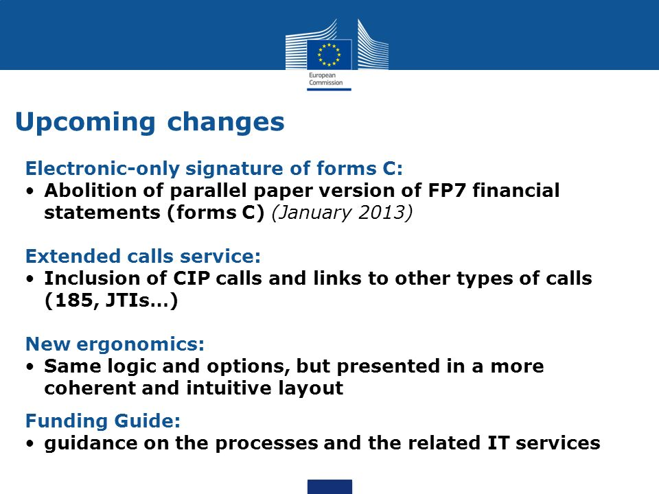 Upcoming changes Electronic-only signature of forms C: