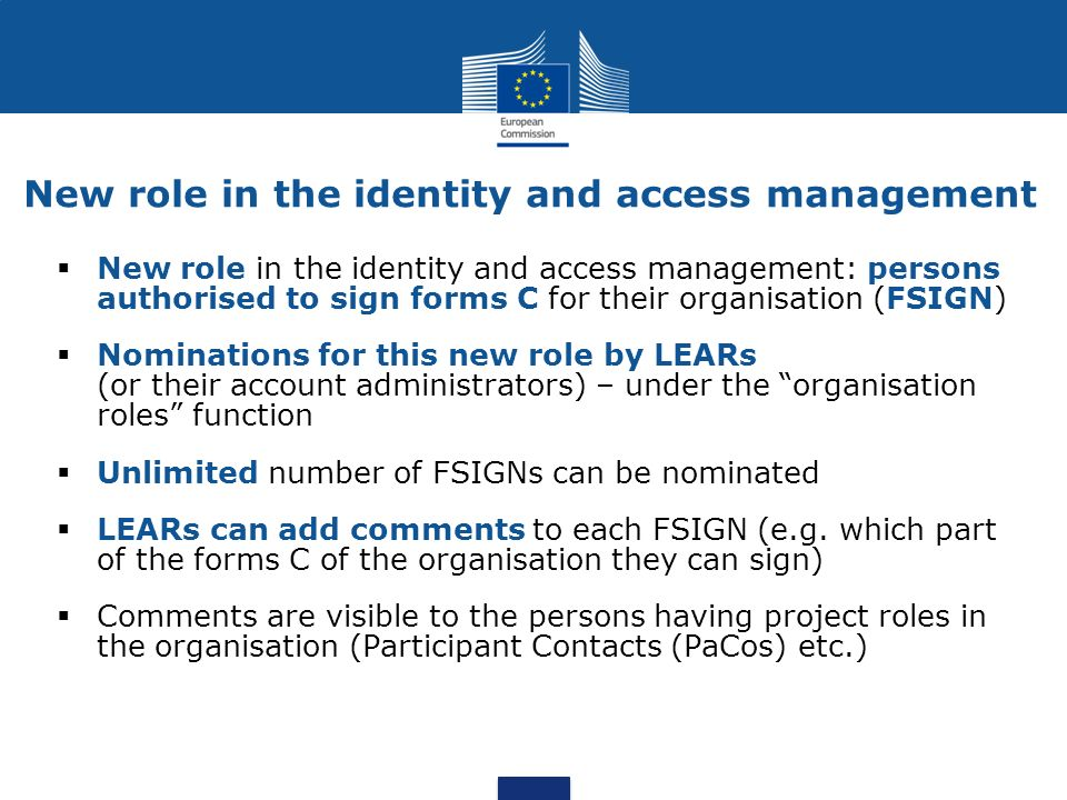 New role in the identity and access management