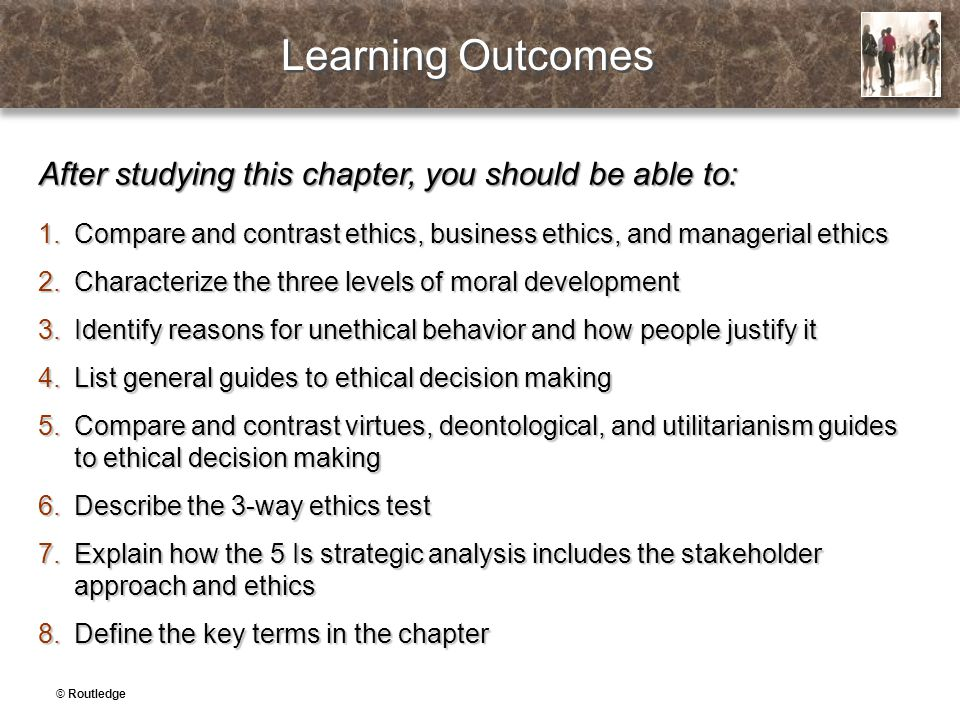 Learning Outcomes After studying this chapter, you should be able to: