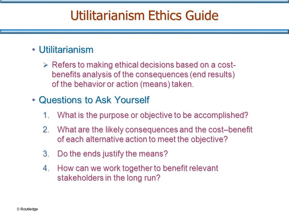 The Theory of Utilitarianism Explained With Examples