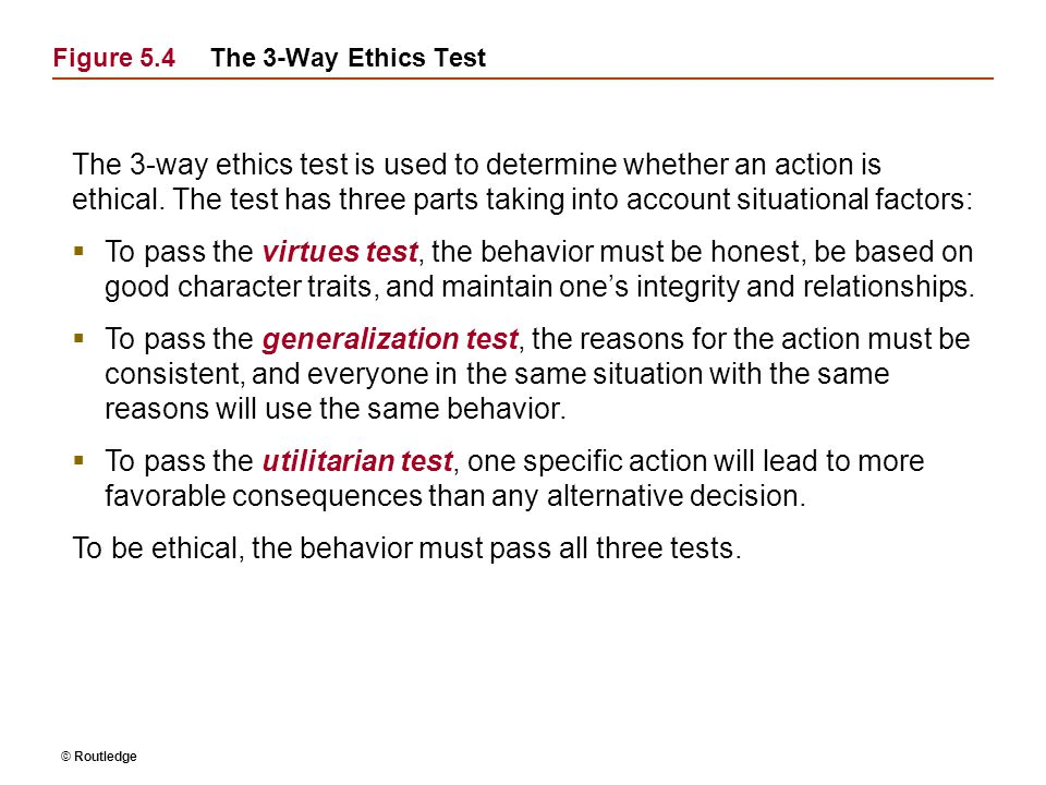 Figure 5.4 The 3-Way Ethics Test