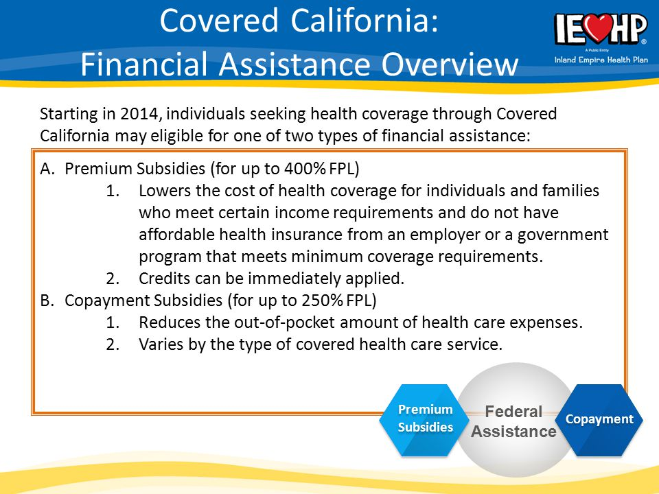 Covered California: Financial Assistance Overview