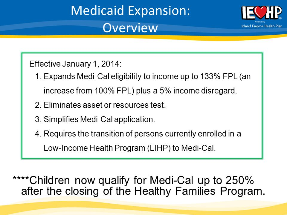 Medicaid Expansion: Overview