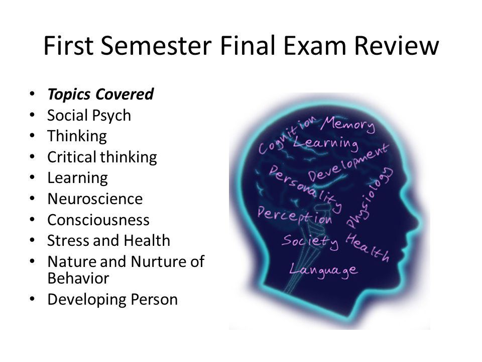critical thinking and final exam Start studying critical thinking final exam (chapter 9) learn vocabulary, terms, and more with flashcards, games, and other study tools.