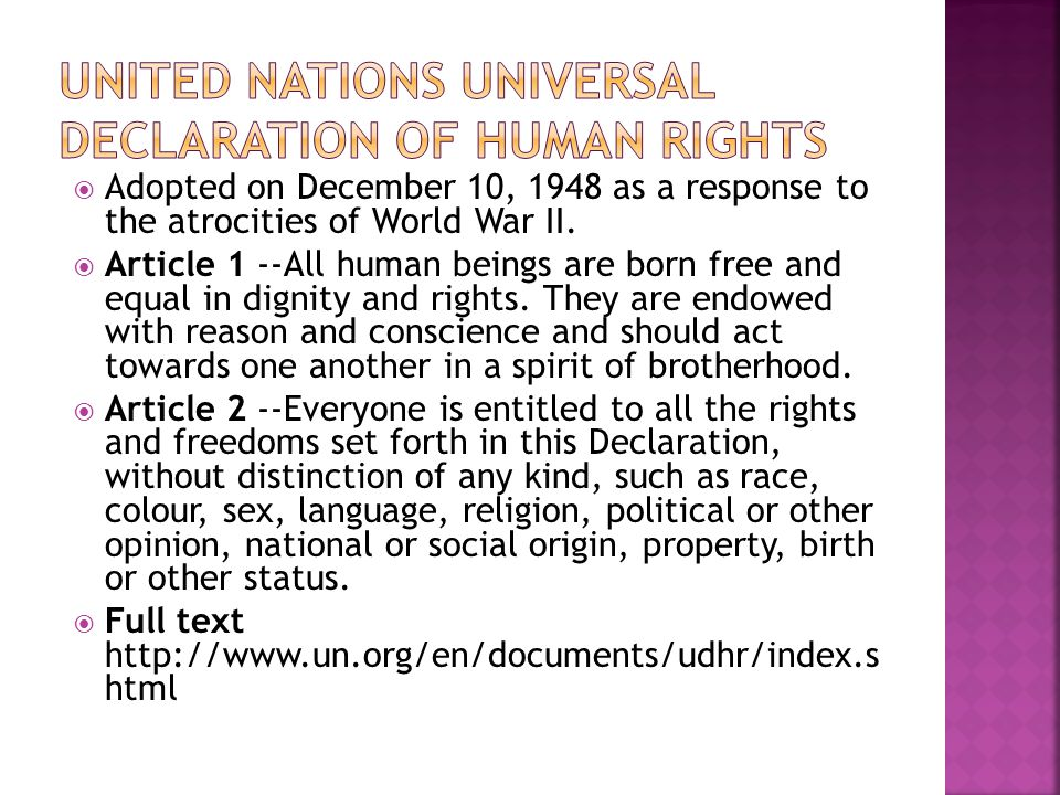 United nations universal declaration of human rights