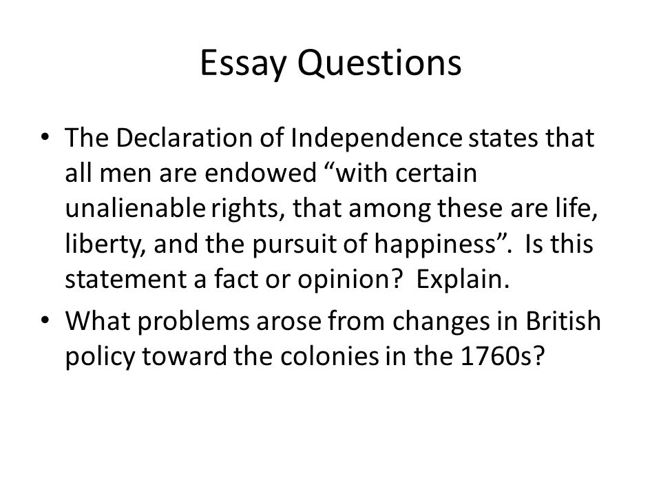 the declaration of independence 2 essay