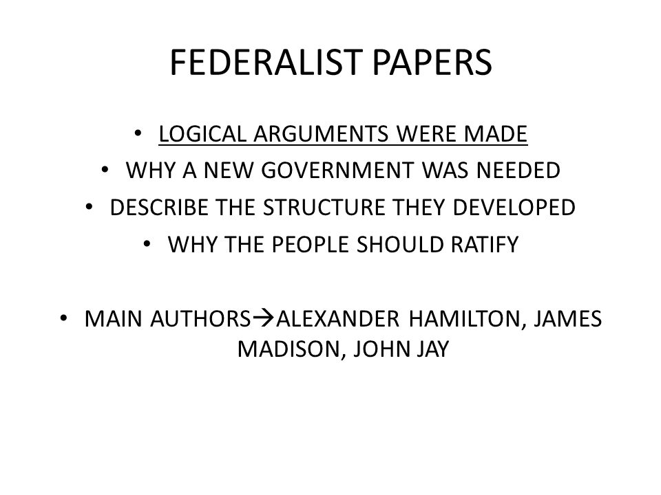 who were the three authors of the federalist essays Can you improve the answeractivate your free the federalist papers course nowthere were three authors of the federalist papers james buy college essays.