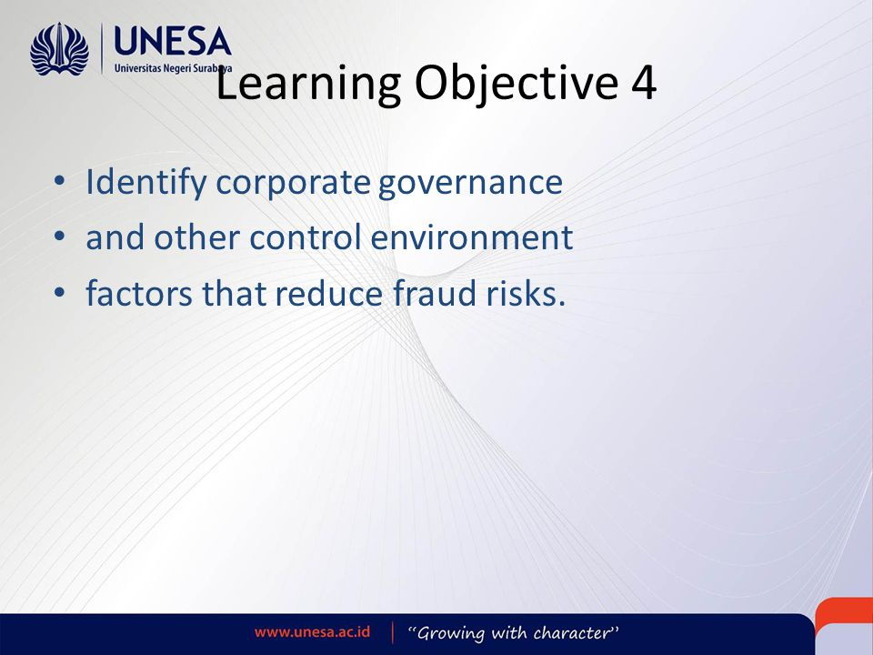 Learning Objective 4 Identify corporate governance