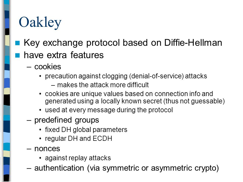 an examination of the diffie hellman key exchange protocol Comparative analysis of diffie hellman algorithm and generation of public  is  one of the earliest practical examples of key exchange implemented within the.