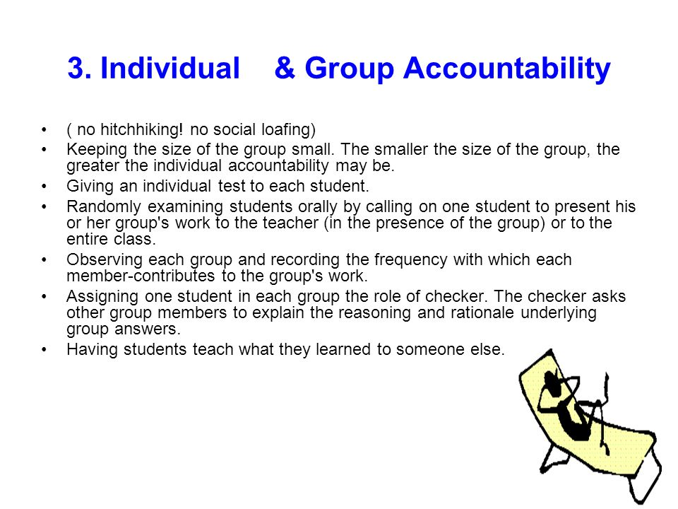 3. Individual & Group Accountability