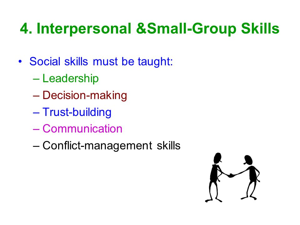 4. Interpersonal &Small-Group Skills