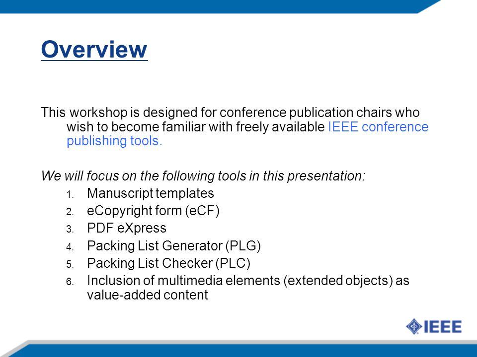 proceedings in depth ieee conference publications program ppt