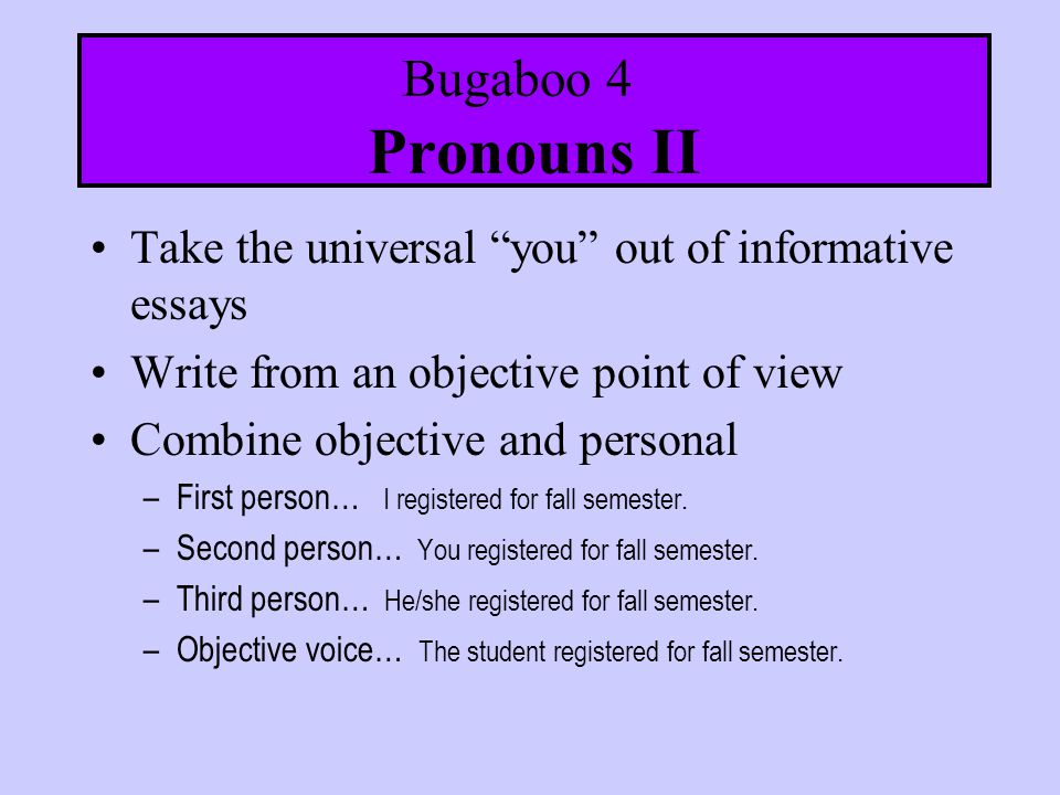 How to use I, me, myself and other personal pronouns