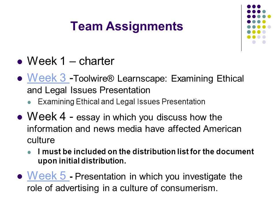 media influences on american culture ppt video online  11 team assignments