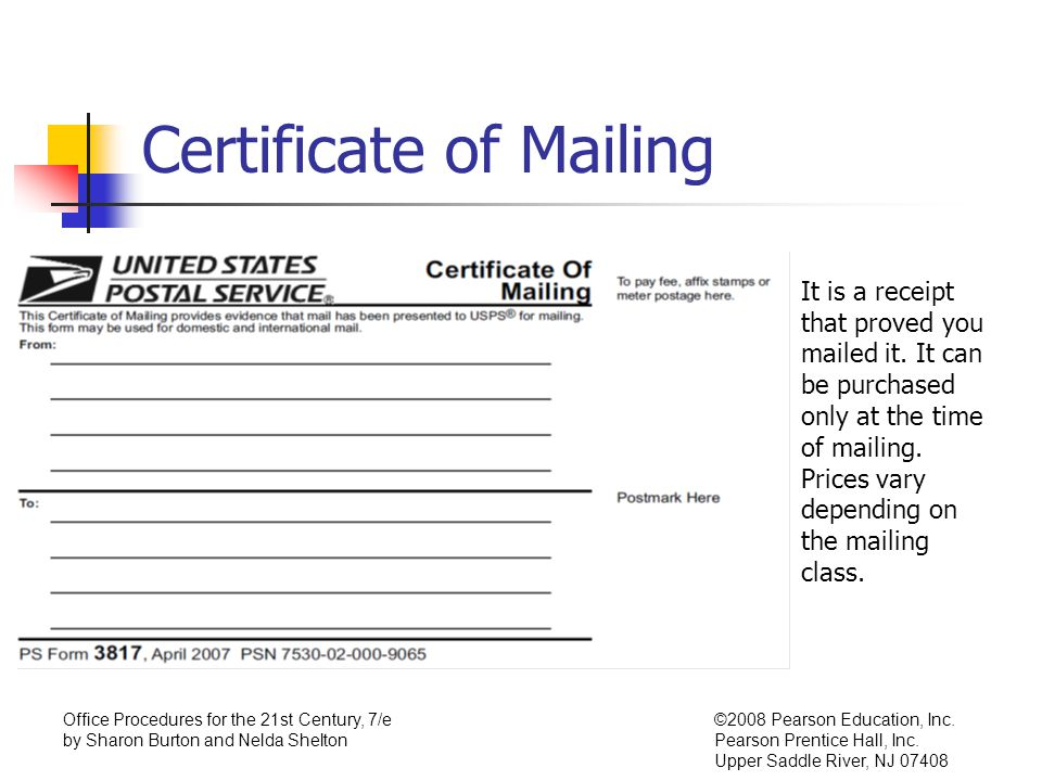 Chapter 7,Processing Mail Incoming Mail - ppt video online download