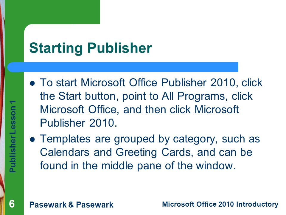 ms publisher 2010 templates