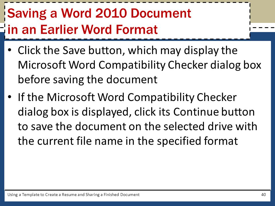 saving a word document as a template