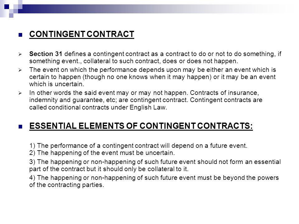 Contingent Contracts And Wagering Agreements. - Ppt Video Online