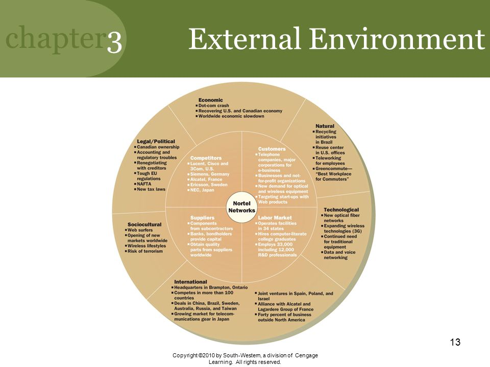 External Environment Copyright ©2010 by South-Western, a division of Cengage Learning.