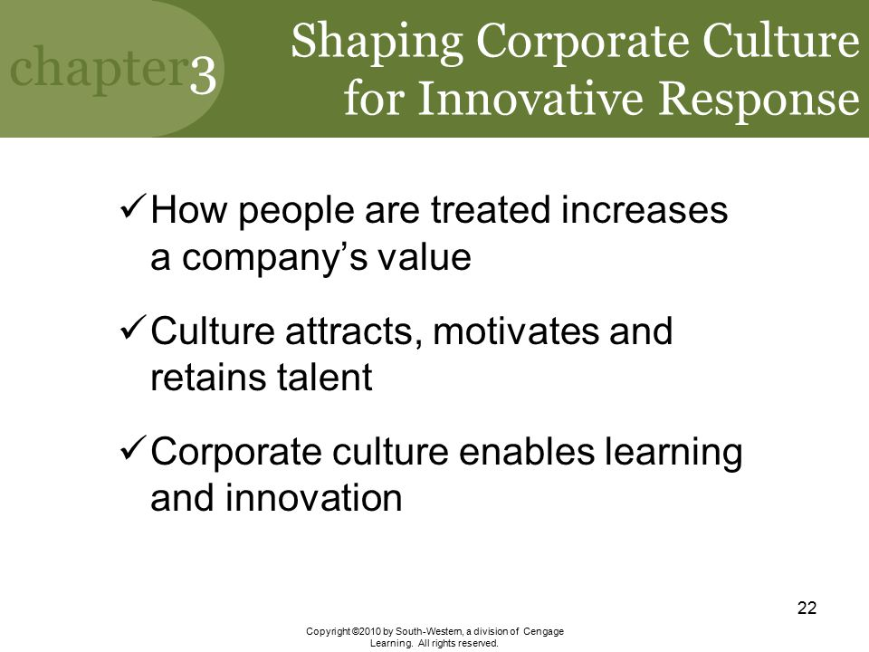Shaping Corporate Culture for Innovative Response