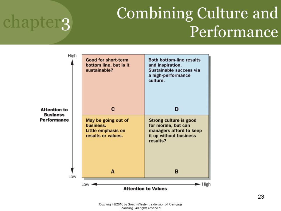 Combining Culture and Performance