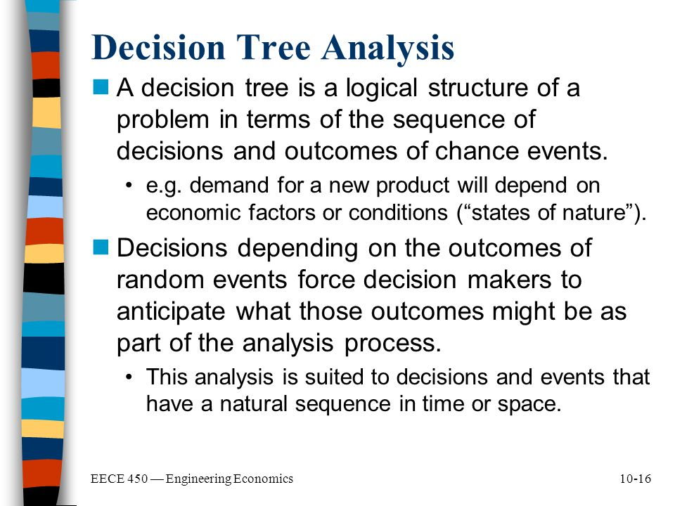 structuring decision problems for decision analysis Industry canada supported a study on the structured decision-making process at bc hydro elements of the decision problem decision analysis.