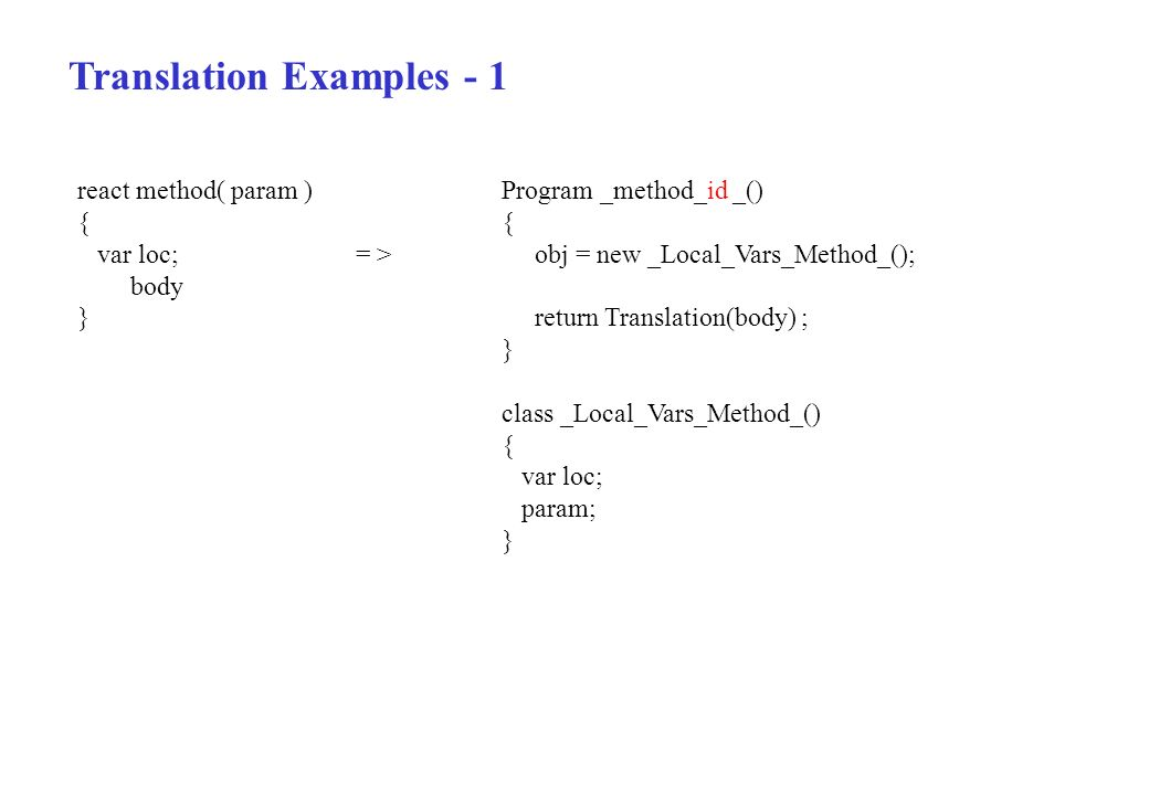Translation Examples - 1