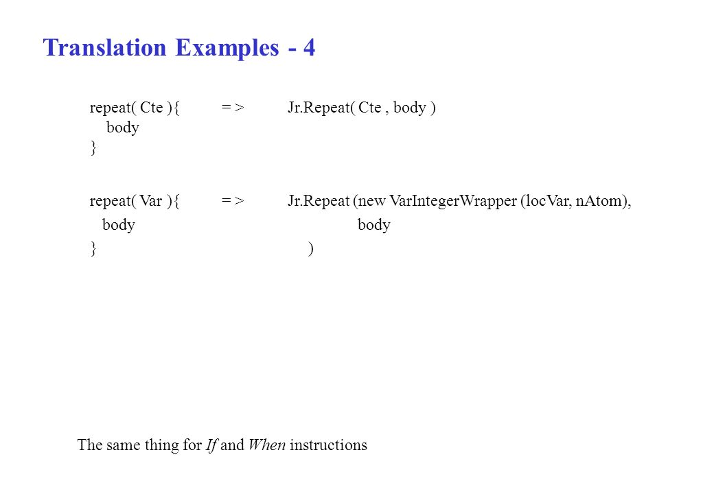 Translation Examples - 4