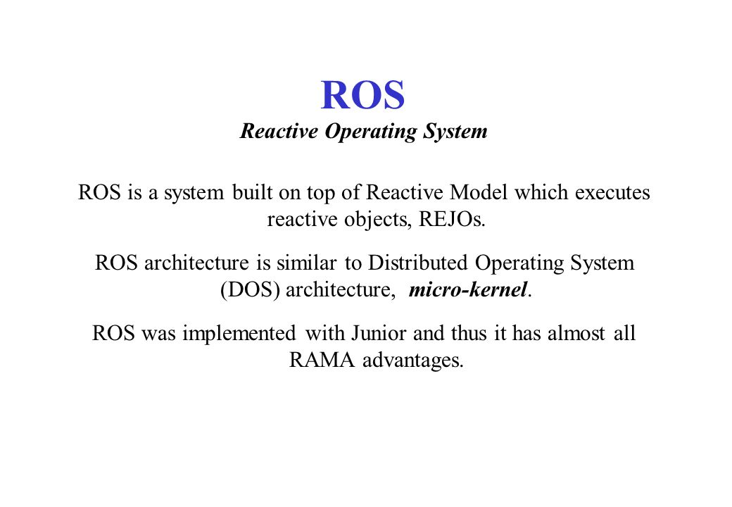 Reactive Operating System