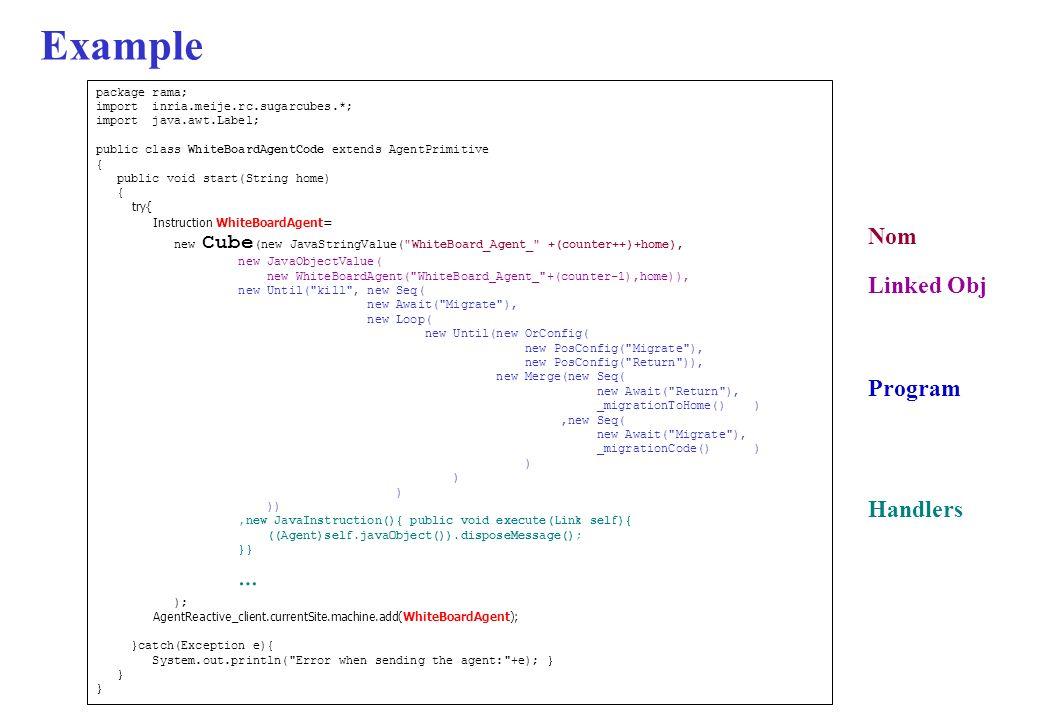 Example Nom Linked Obj Program Handlers package rama;