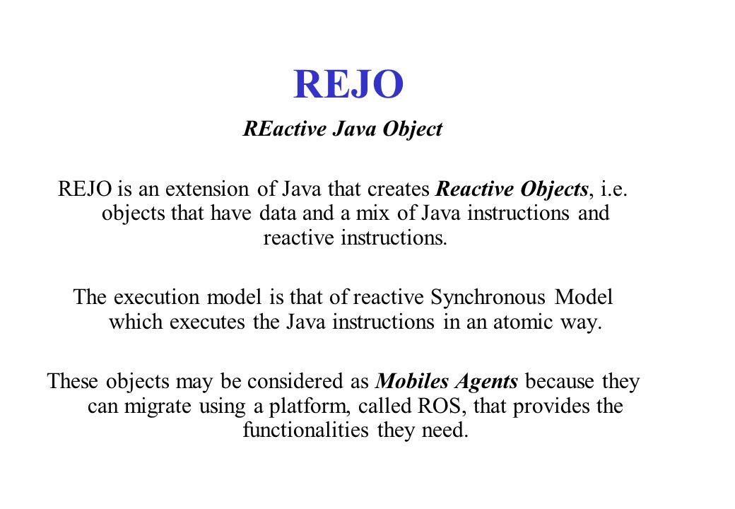REJO REactive Java Object