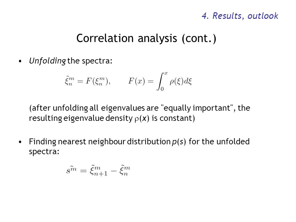 Correlation analysis (cont.)