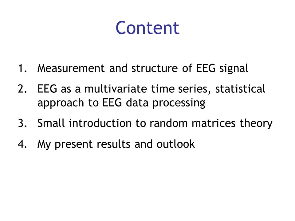Content Measurement and structure of EEG signal