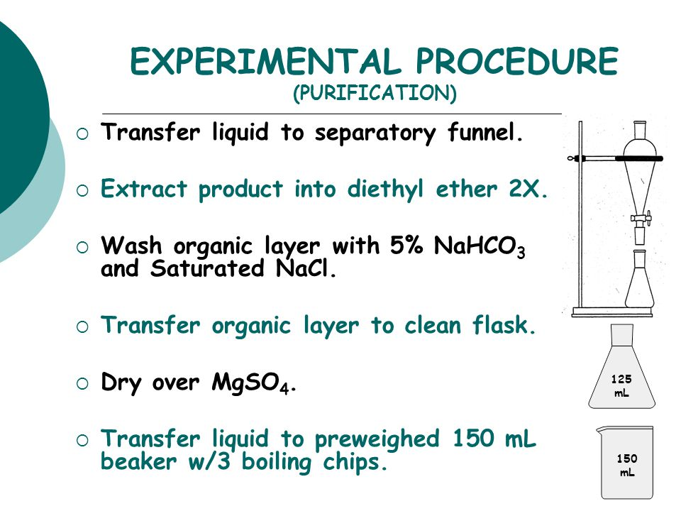 EXPERIMENTAL PROCEDURE (PURIFICATION)