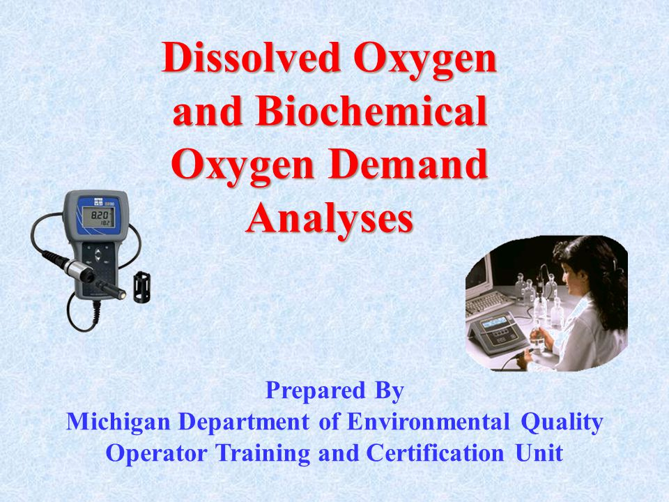 Dissolved Oxygen and Biochemical Oxygen Demand Analyses