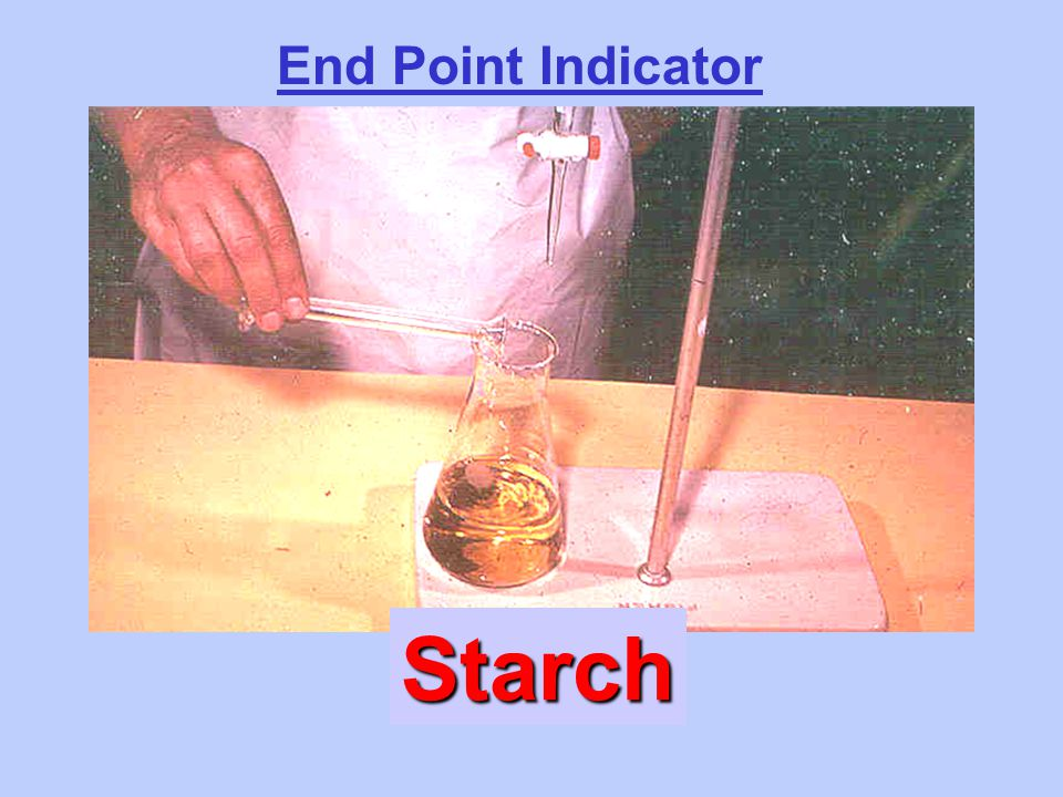 End Point Indicator Starch