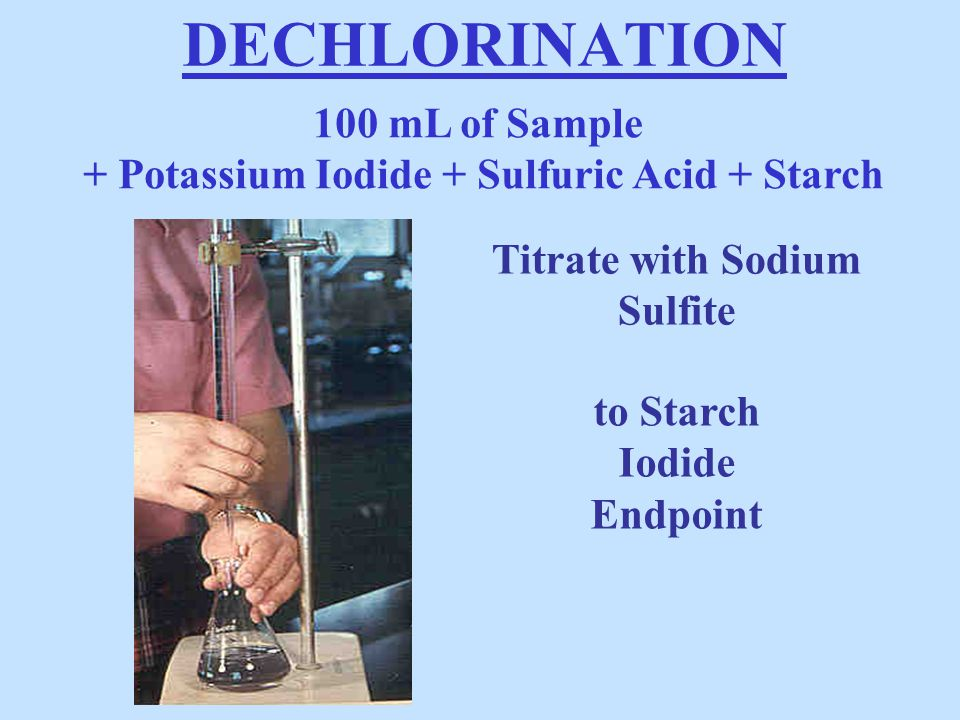 DECHLORINATION 100 mL of Sample