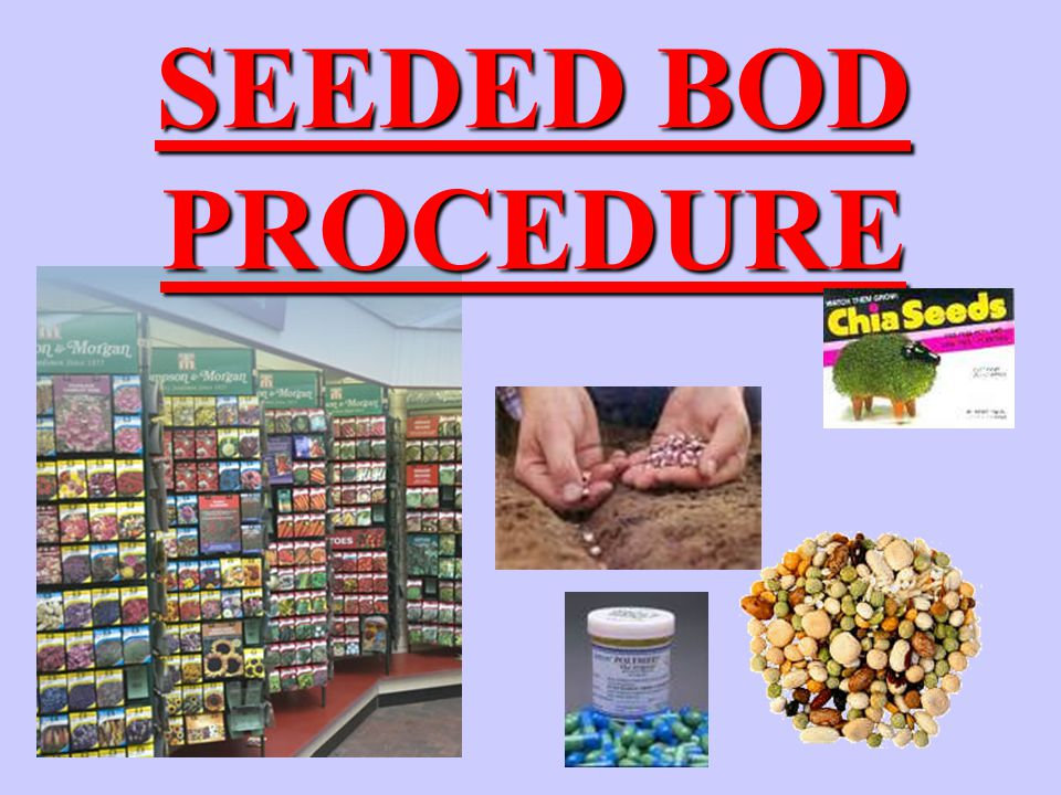 SEEDED BOD PROCEDURE
