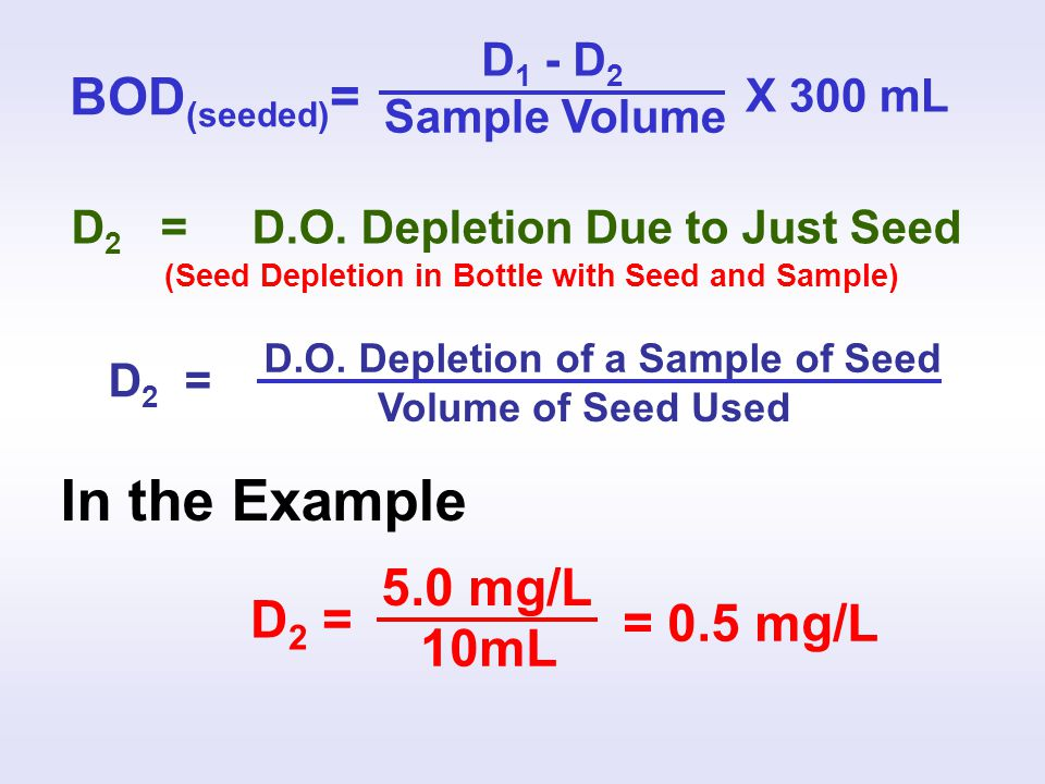(Seed Depletion in Bottle with Seed and Sample)